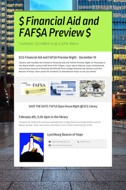 $ Financial Aid and FAF$A Preview $