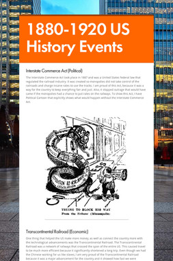 1880-1920 US History Events