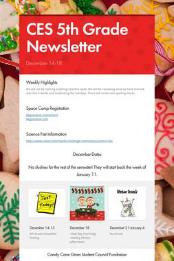 CES 5th Grade Newsletter