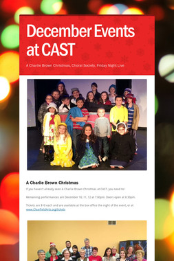 December Events at CAST