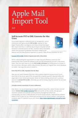 Apple Mail Import Tool