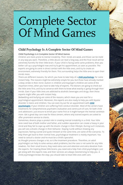 Complete Sector Of Mind Games