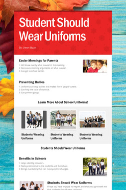 Student Should Wear Uniforms
