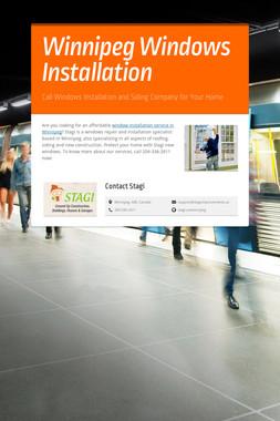 Winnipeg Windows Installation