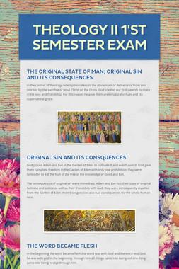 Theology II 1'st semester exam