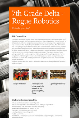7th Grade Delta - Rogue Robotics