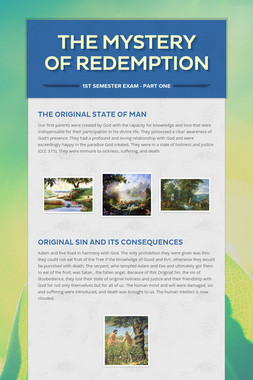 The Mystery of Redemption