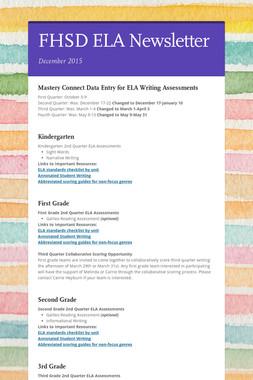 FHSD ELA Newsletter