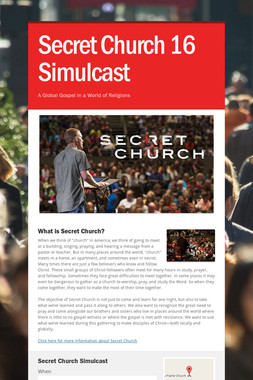 Secret Church 16 Simulcast