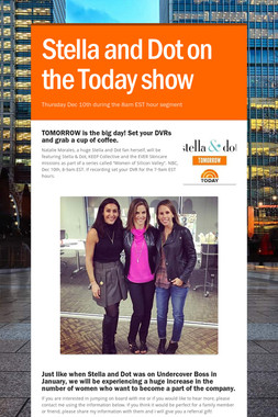 Stella and Dot on the Today show