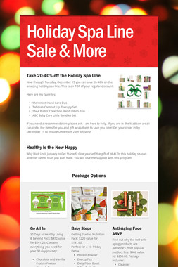Holiday Spa Line Sale & More
