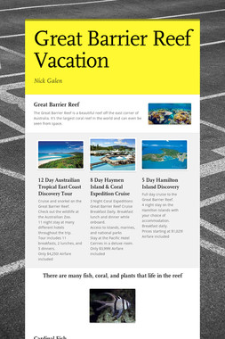 Great Barrier Reef Vacation