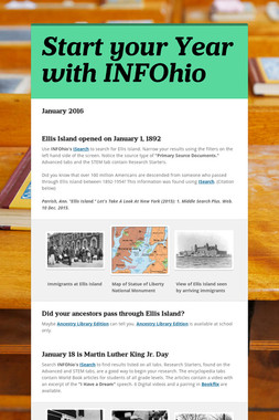 Start your Year with INFOhio