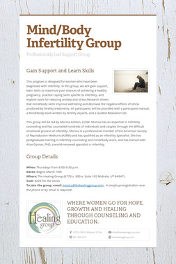 Mind/Body Infertility Group