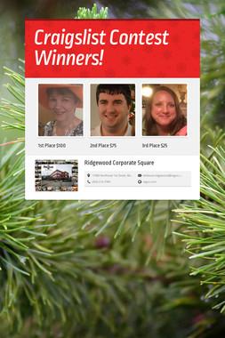 Craigslist Contest Winners!