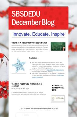 SBSDEDU December Blog