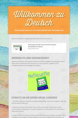 Willkommen zu Deutsch