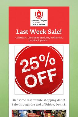Last Week Sale!