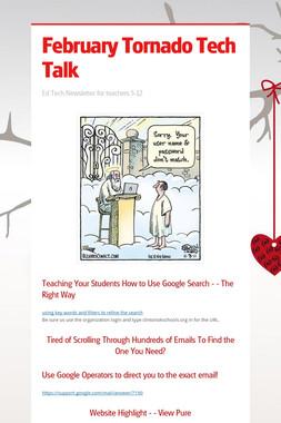 February Tornado Tech Talk