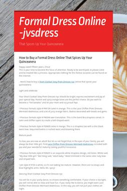Formal Dress Online -jvsdress
