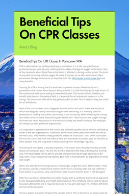 Beneficial Tips On CPR Classes