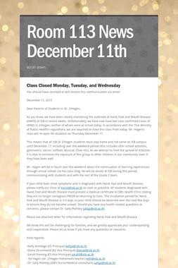 Room 113 News December 11th