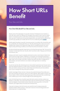How Short URLs Benefit