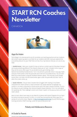START RCN Coaches Newsletter