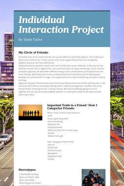 Individual Interaction Project