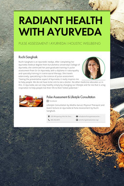 RADIANT HEALTH WITH AYURVEDA
