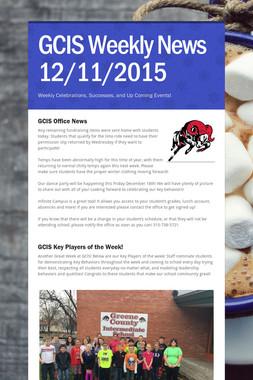 GCIS Weekly News 12/11/2015