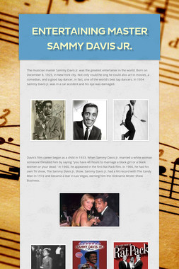 Entertaining master Sammy Davis Jr.