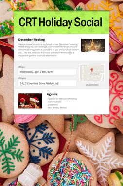 CRT Holiday Social