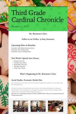 Third Grade Cardinal Chronicle