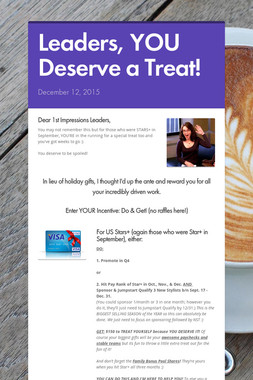 Leaders, YOU Deserve a Treat!