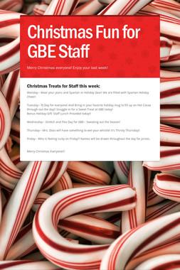 Christmas Fun for GBE Staff