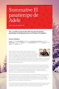 Summative El pasatiempo de Adele