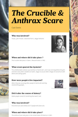 The Crucible  & Anthrax Scare