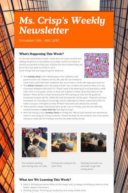 Ms. Crisp's Weekly Newsletter