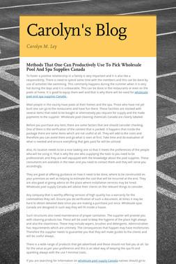 Carolyn's Blog