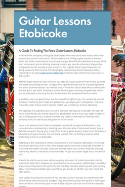 Guitar Lessons Etobicoke