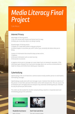 Media Literacy Final Project