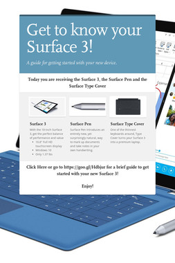 Get to know your Surface 3!