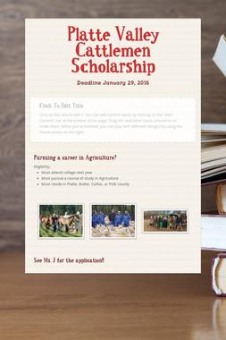 Platte Valley Cattlemen Scholarship