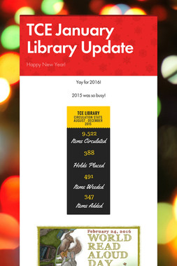 TCE January Library Update