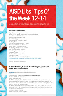AISD Libs' Tips O' the Week 12-14