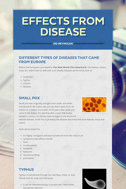 Effects from Disease