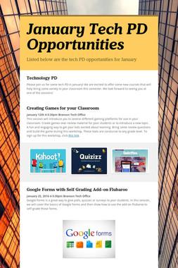 January Tech PD Opportunities