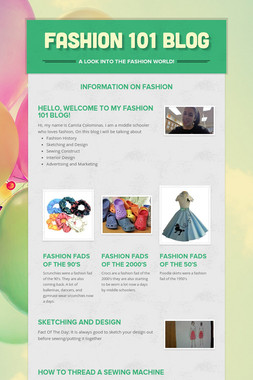 Fashion 101 Blog