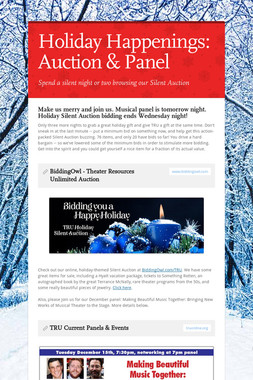 Holiday Happenings: Auction & Panel